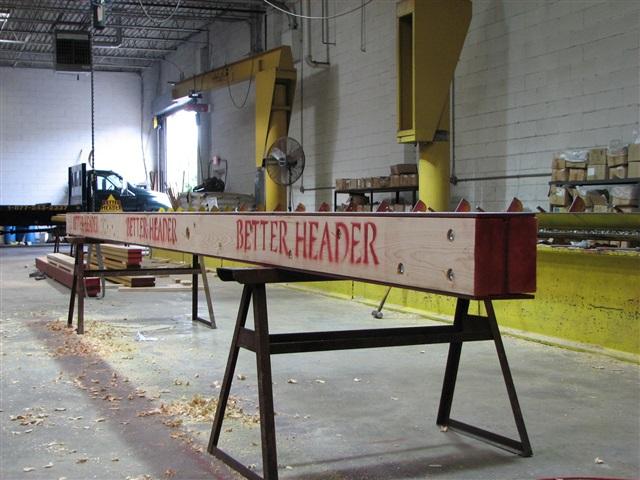 how to make a header beam