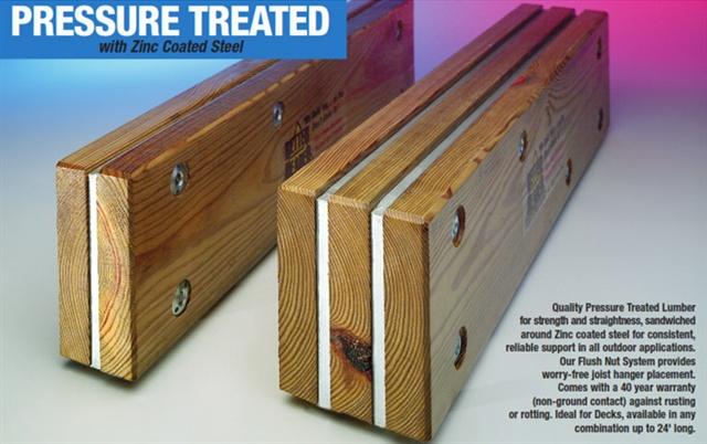 Better Header Flitch Plate Steel Custom Beam Construction
